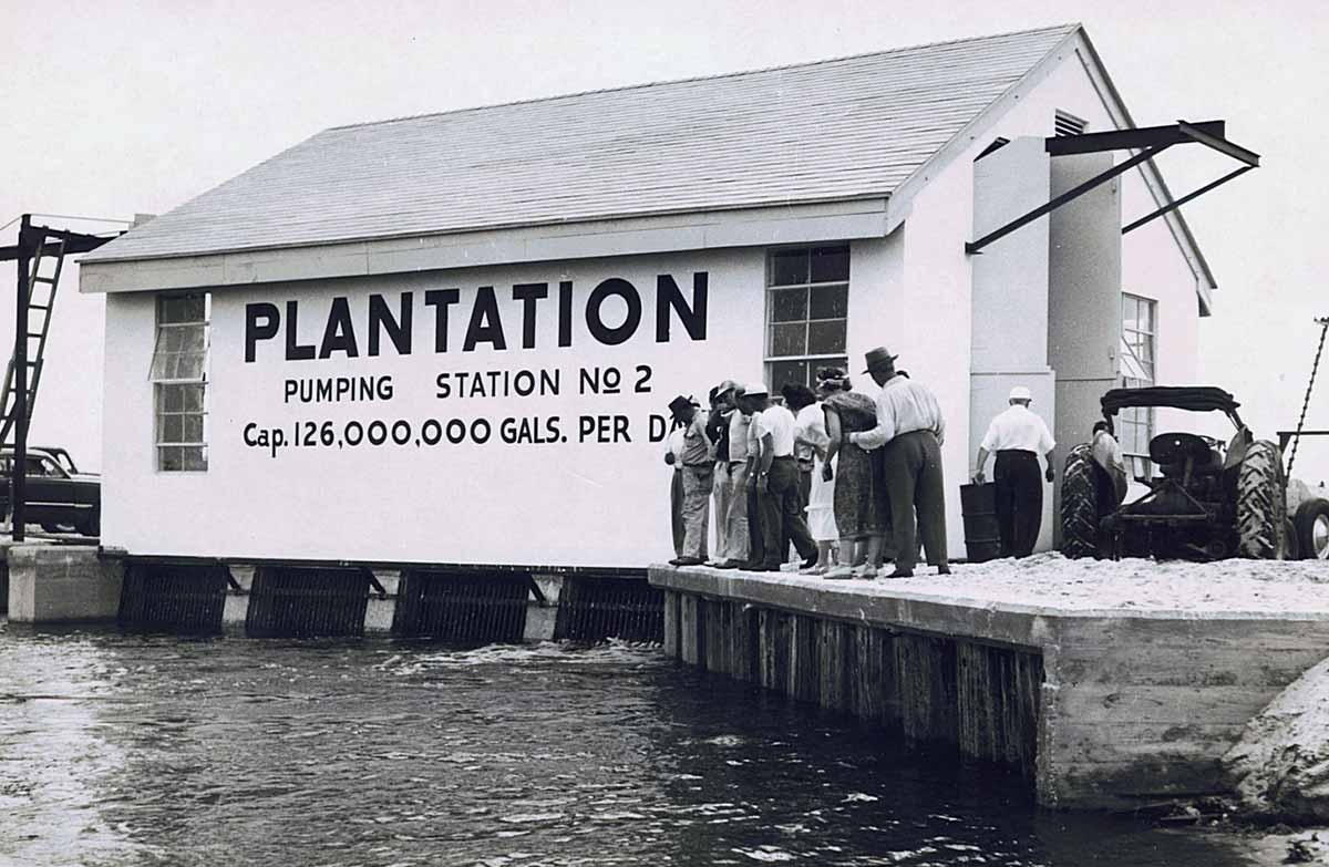 Old photo of Old Plantation Water Pump Station #2